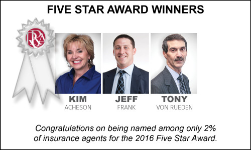 2016 Five Star Award Winners