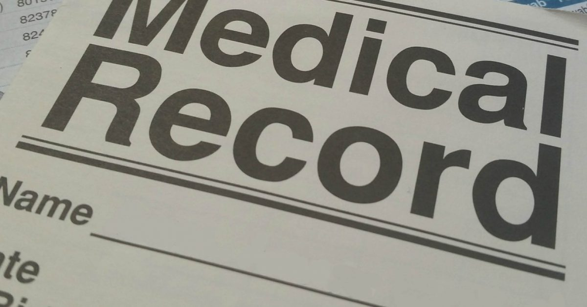 Document with the words 'Medical Record' in large print