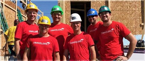 Workers working on new home project for Habitat for Humanity