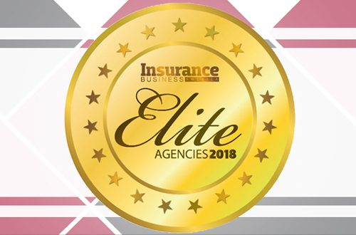 Graphic showing award 2018 Elite Agencies by Insurance Business America