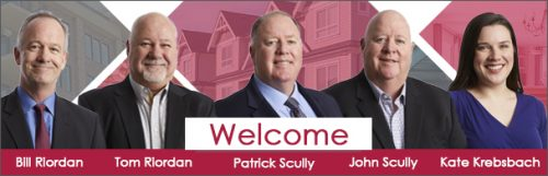 Riordan & Scully Insurance Service LLC joining Robertson Ryan & Associates January with the word Welcome beneath