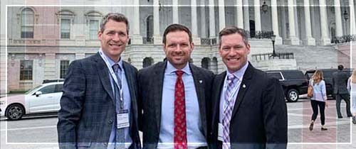 Jason Bott, Justin Staebler, and Dan Lau join other independent insurance agents in DC