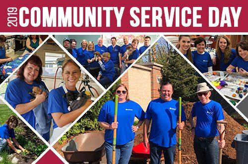 Collage of team members volunteering efforts
