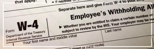 Employee W4 form