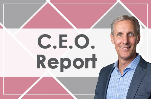 CEO Report banner image showing graphic of Chris Illman CEO