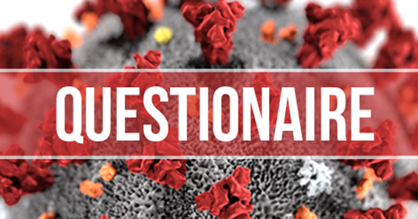 Coronavirus banner overlaid on top with the words Questionnaire