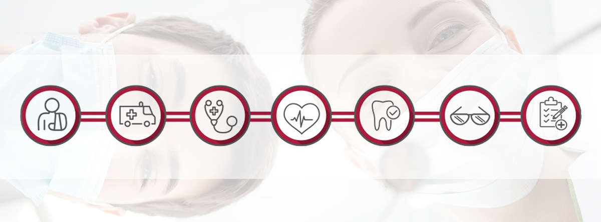 Icons depicting multiple voluntary benefits