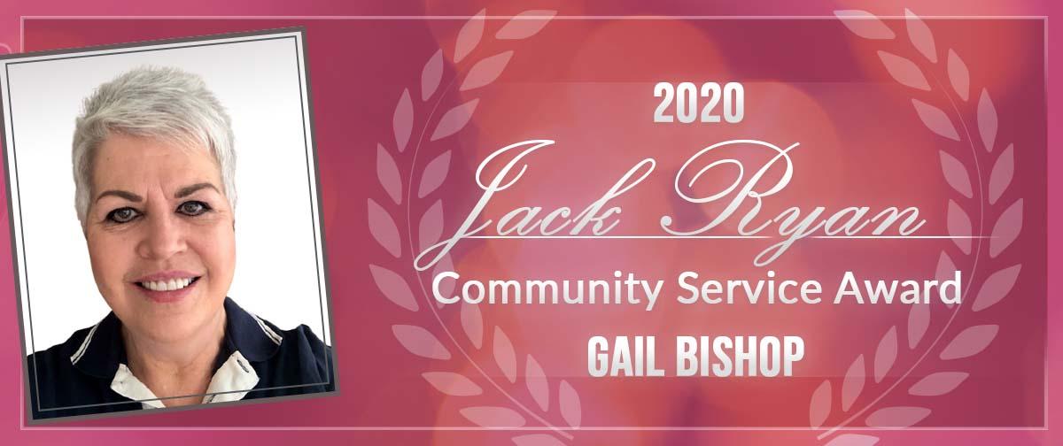 Gail Bishop awarded the 2020 Jack Ryan Community Service Award